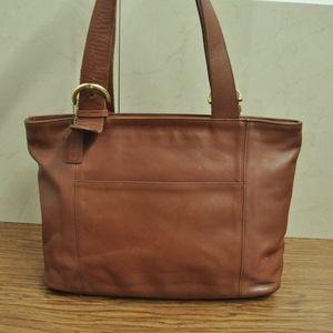 COACH  4155 British Tan Leather Shoulder Bag
